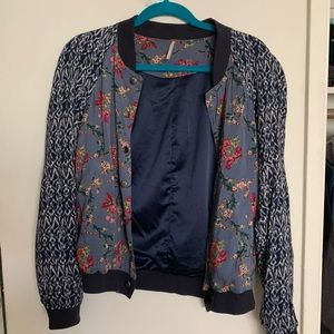 Free People floral bomber